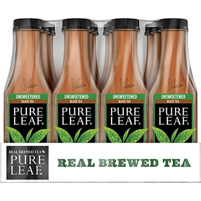 Pure Leaf Iced Tea, Unsweetened, Real Brewed Tea, 0 Calories, 18.5 Ounce (Pack of 12) by Pure Leaf