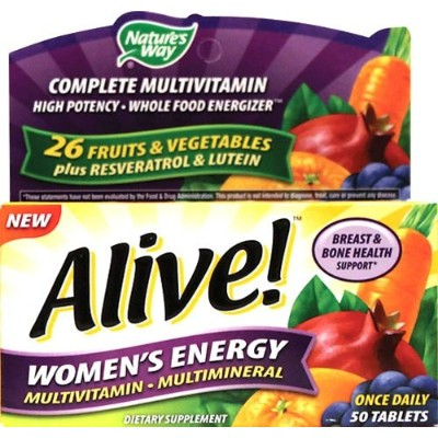 Nature's Way Alive! Women's Energy Multivitamin Multimineral - 50 tabs by ENZYMATIC THERAPY INC