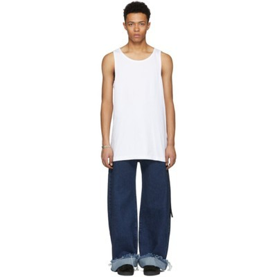 D BY D タンクトップ White Back Thorn Tank Top