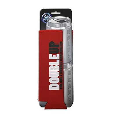 Double Can Cooler ダブルカンクーラー レッド doubleup/fold:blue