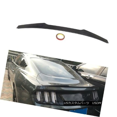 エアロパーツ Carbon Rear Tail Trunk Spoiler Wing Fit for Ford Mustang GT Coupe 2015-2017 フォードマスタングGTクーペ201...