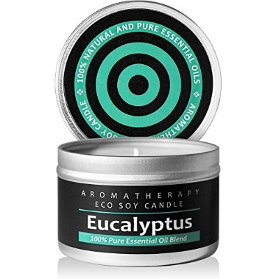 (Eucalyptus) - I & Candle, Aromatherapy Soy Wax Scented Candles