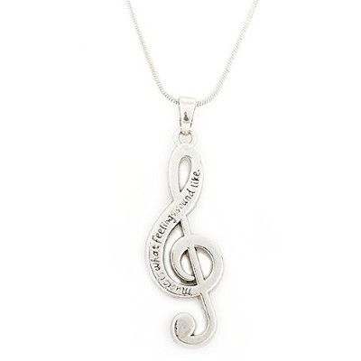 """Artistic Music Note """" Music Is What Feelings Sound Like 'ネックレスRomantic Gift for Music Lovers"""
