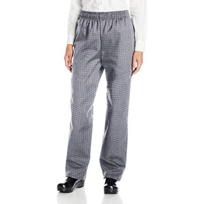 Uncommon Threads 4010-4002 Traditional Chef Pant in Houndstooth - Small