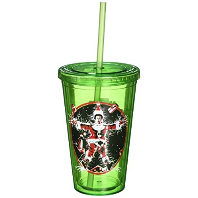 ICUP National Lampoon 's Christmas VacationポスターColored Cup with Straw、クリア