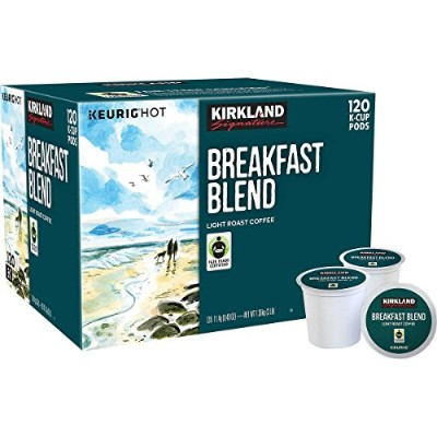 Kirkland Signature Breakfast Blend Coffee, Light Roast, 120 K-Cup カークランド K-cup ブレックファストブレンド 120個入り ...