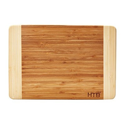 "HTB 100 %竹カッティングボード、Chopping竹ボードfor Food Prep、Making CocktailsまたはServing Appetizers Medium:13.5"" x..."