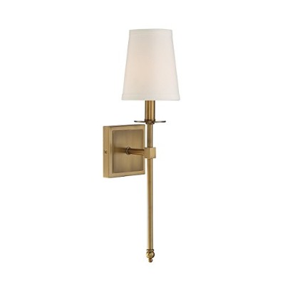 Savoy House 9–302–1-322モンロー1-light Sconce in Warm真鍮 カッパー 9-302-1-322 1