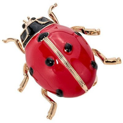 Szxc Ladybug Vegetable Leafe Crystal Enamel Collection Accessories Brooch Pin Gift Women Jewelry