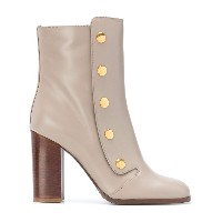 Mulberry snap button ankle boots - ヌード&ナチュラル