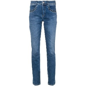 Cambio studded pocket slim-fit jeans - ブルー
