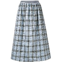 Ultràchic tartan flared midi skirt - ブルー