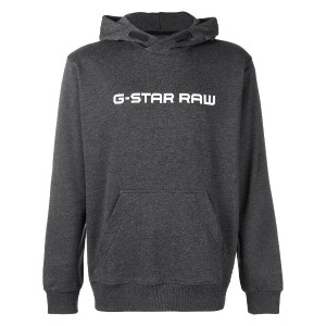 G-Star Raw Research logo printed hoodie - グレー