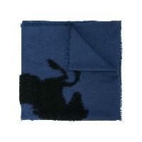 Chloé horse knitted scarf - ブルー
