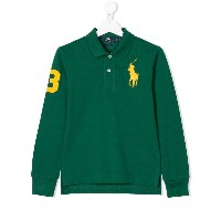 Ralph Lauren Kids logo embroidered polo shirt - グリーン
