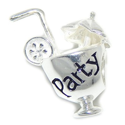 Proジュエリー925Solid Sterling Silver ' Party 'カクテルチャームビーズ