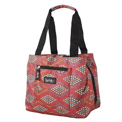 (Fiesta Brown) - Nicole Miller of New York Insulated Lunch Cooler 11 Lunch Tote (Fiesta Brown)