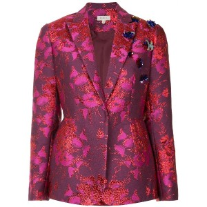Delpozo floral embroidered blazer - ピンク