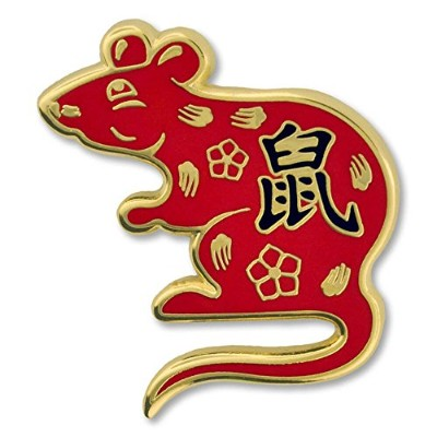 Pinmart 's Chinese Zodiac Year of the Rat New Yearエナメルラペルピン 5 ゴールド