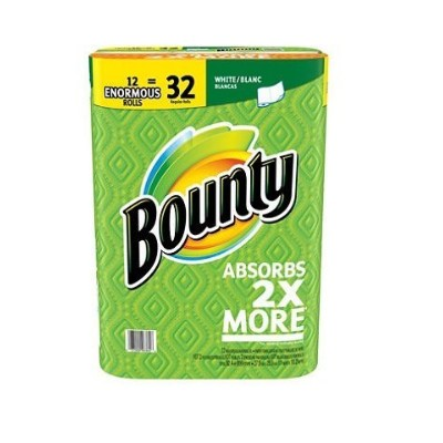 Bounty Enormous Paper Towels, White (107 sheets per roll, 12 ct.) by Bounty