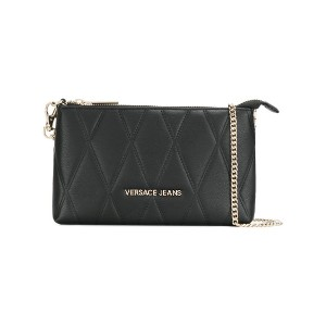 Versace Jeans quilted chain wallet - ブラック