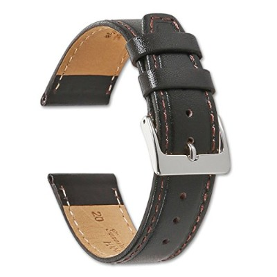 Genuine Calf Leather – フラット – Watch Band – By deBeer 19MM
