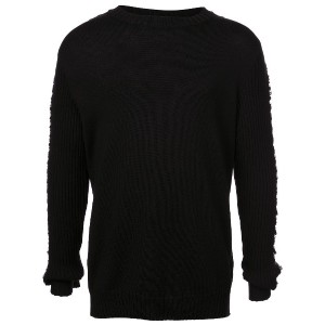 Balmain rough knit jumper - ブラック
