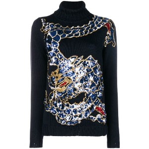P.A.R.O.S.H. dragon sequin sweater - ブルー