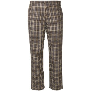 Antonio Marras plaid tailored trousers - グレー