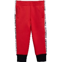 Burberry Kids jersey trousers - レッド