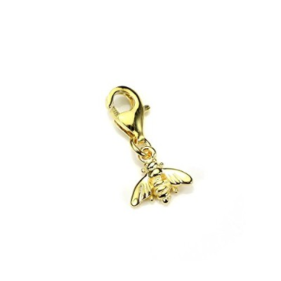 Gold Dipped Sterling Silver Bumble Bee Clip on Charm