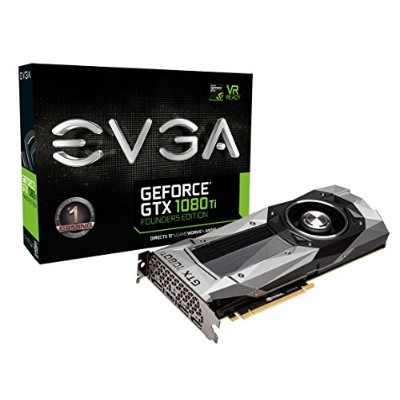 EVGA GeForce GTX 1080 Ti Foundersエディション ゲーム Real Boost Clock: 1582 MHz 11G-P4-6390-KR