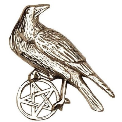 Pentacle of the RavenウィッカWiccanブロンズペンダント