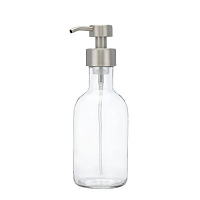 (Large) - Farm House Foaming Glass Soap Dispenser for Kitchen or Bathroom Counter-top Dispenser...