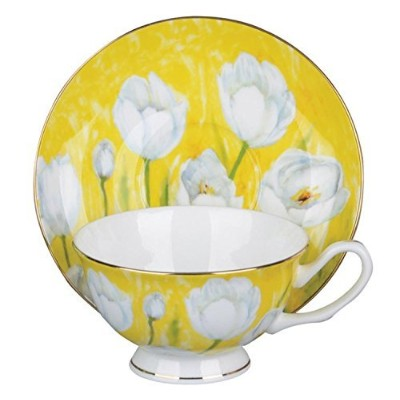 Tulip withパステルイエローCup and Saucer