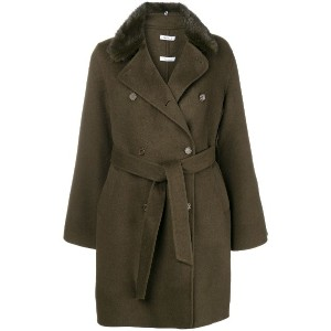 P.A.R.O.S.H. belted double breasted coat - グリーン
