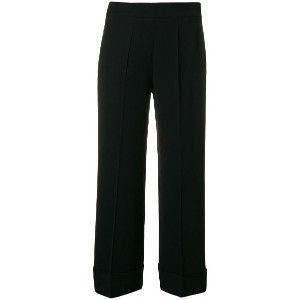 Incotex straight cropped trousers - ブラック