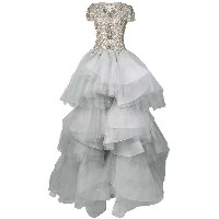 Marchesa embellished top ball gown - ヌード&ナチュラル
