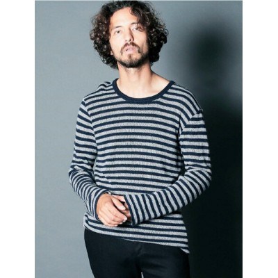 Magine WOOL W FACE BOADER C/N L/S マージン カットソー【先行予約】*【送料無料】