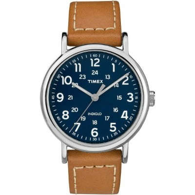 タイメックス レディース 腕時計【Weekender 40mm Watchs】Tan Leather Strap/Blue Dial