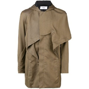 Chalayan hooded military jacket - イエロー