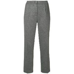 Blugirl cropped tailored trousers - グレー