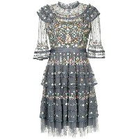 Needle & Thread floral embroidered dress - ブルー
