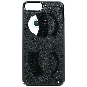 Chiara Ferragni Flirting glitter iPhone case - ブラック