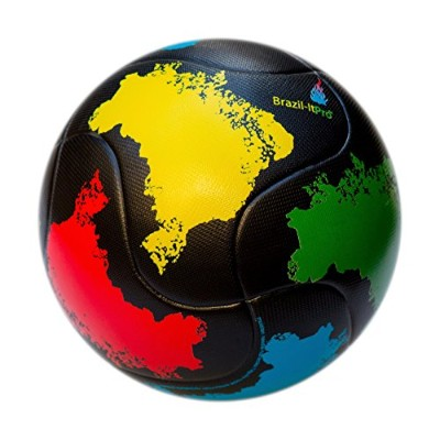 (5, Textured PU Material (Black, Yellow, Red, Green, Blue)) - Brasil Soccer Ball Size 5 - Brazil-It...