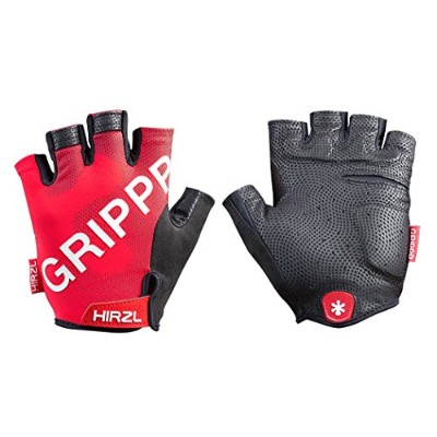 HIRZL(ハーツェル) Grippp Tour 2.0 Short Finger Gloves - Red[Size: S/M/L/XL] (S (7)) [並行輸入品]