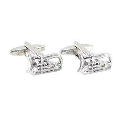 mendepotシルバートーンTuba Cufflinks WithギフトボックスMusic Instrument Tubaカフリンク