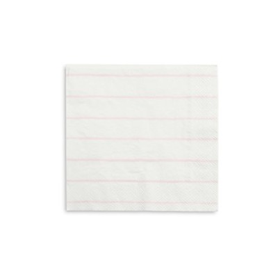 Party Suppliesピンクストライプ Napkins Pack of 32 ピンク 5.96