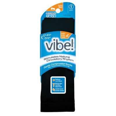pure Careテつョ vibe! Microfiber Cotton Blend Graduated Compression Sock (6-12) by PureCareテつョ