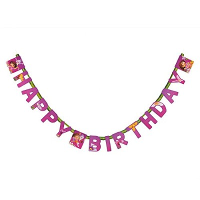American Greetings Dora The Explorer Birthday Banner Party Supplies by Dora the Explorer